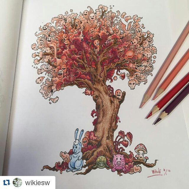 DOODLE INVASION Colored By Wikiesw Thanks For Order And Happy Coloring Repost Pencil ArtColoring BookAdult