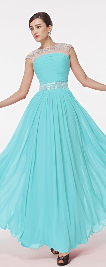 1000  ideas about Blue Chiffon Dresses on Pinterest | Chiffon ...