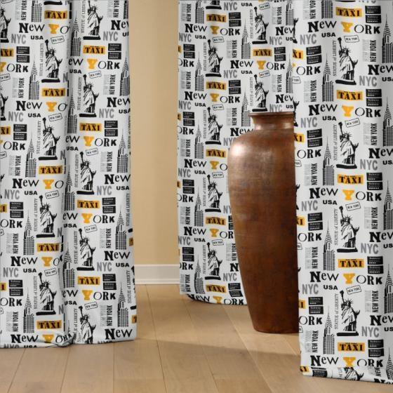 Vorhang aus Dekostoff New York