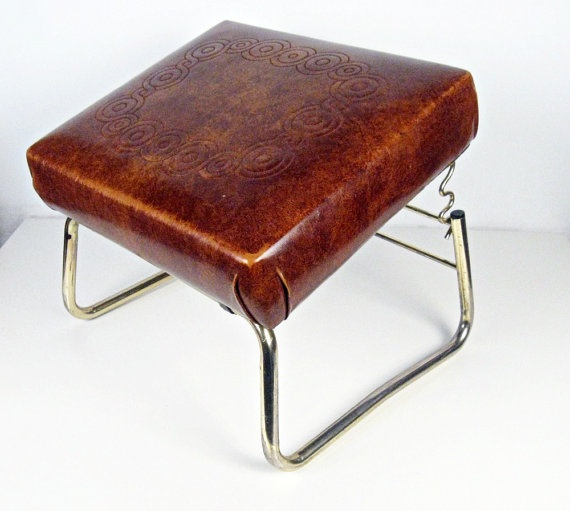 Vintage Ottoman Adjustable Foot Stool Leg Lounger