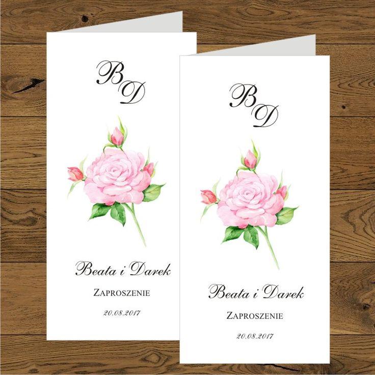 Zaproszenia ślubne z różami