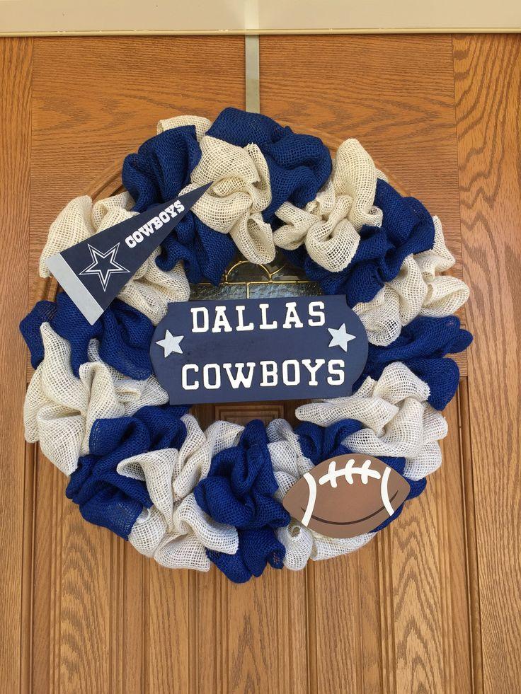 Dallas Cowboys Burlap Wreath                              …
