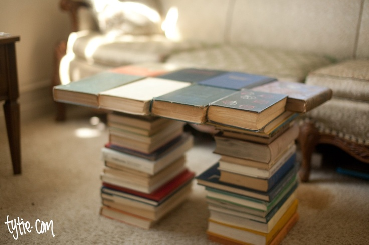 Coffee Table Made From Books Book Love Pinterest Books