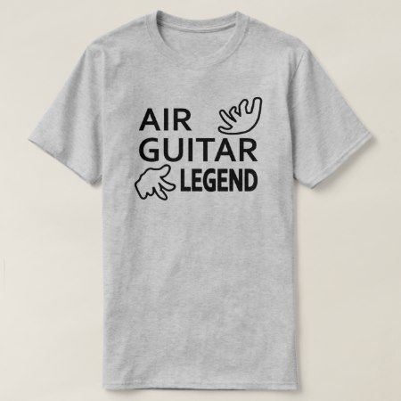 Air Guitar Legend T-Shirt - click/tap to personalize and buy