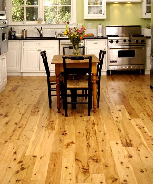 Cypress hardwood floors for the kitchen install date 3 16 for Australian cypress flooring unfinished