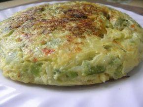 Tortilla de zapallitos verdes