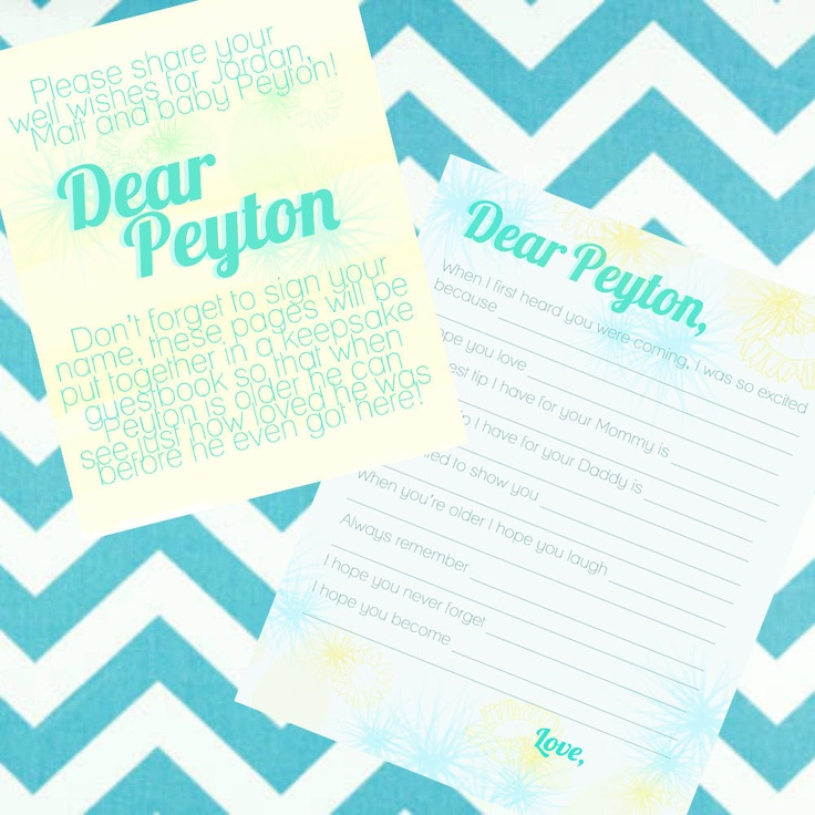 Letter From Baby To Baby Shower Guests: Boy Baby Shower: Letter To Baby. $20.00, Via Etsy.