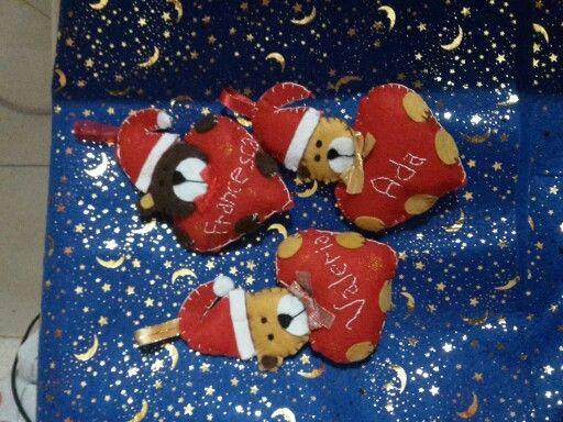 Orsetti natalizi personalizzati