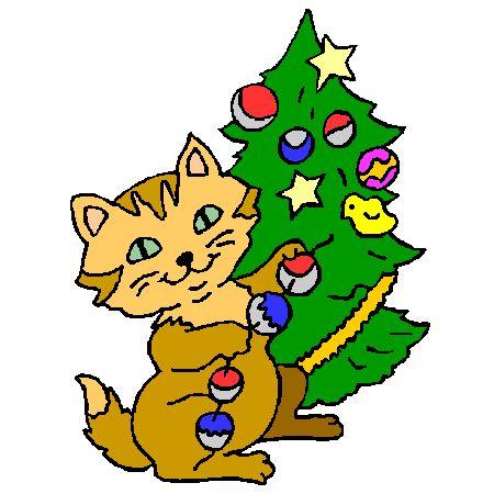 Les 25 meilleures id es de la cat gorie coloriage chat - Coloriage de chat de noel ...