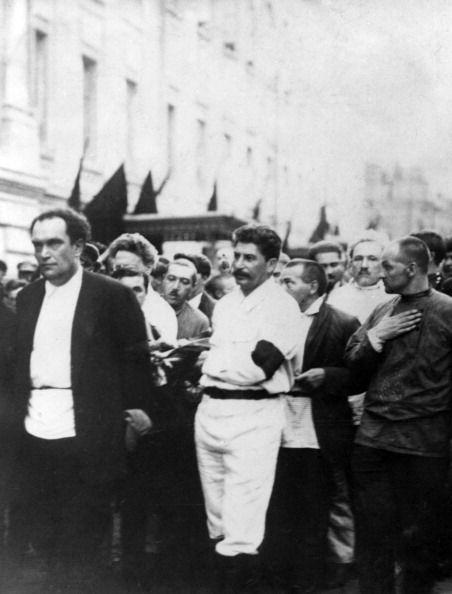 The funeral of Felix Dzerzhinsky in Moscow, July 1926. Joseph Stalin is amongst the pallbearers.