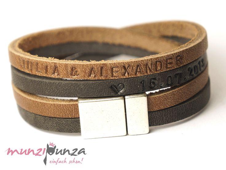 Armbänder - Lederarmband Magnetverschluss Art. 156 - ein Designerstück von munzipunza bei DaWanda