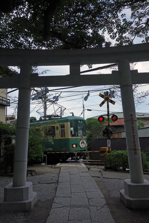 [Country] Goryo-jinja Shrine in Kamakura 鎌倉 御霊神社と江ノ電