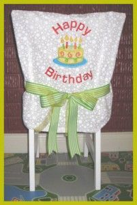 Birthday chair cover tutorial