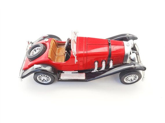 Vintage Mercedes Benz 1929 Model Miniature Car Made In Italy By Burago Collectible Valentines