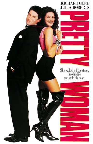A great Pretty Woman movie poster! Julia Roberts stole the heart of Richard Gere in the hit romantic-comedy! Ships fast. 11x17 inches. Need Poster Mounts..?