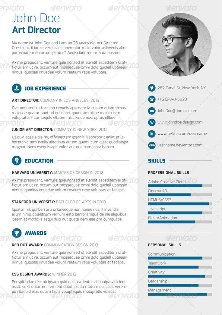 286 best resume images on Pinterest | Resume templates, Resume and ...