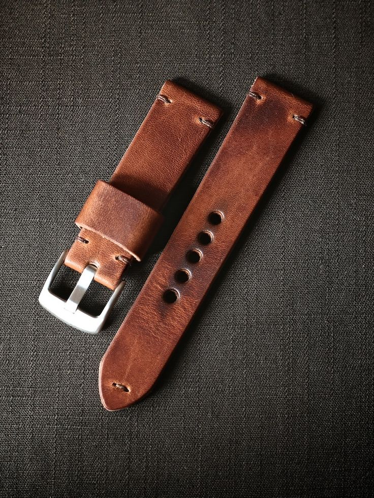 "Bas and Lokes Leather Goods - ""Madagascar"" Saddle Tan Handmade Leather Watch Strap, $140.00 (http://www.basandlokes.com/madagascar-saddle-tan-handmade-leather-watch-strap/)"