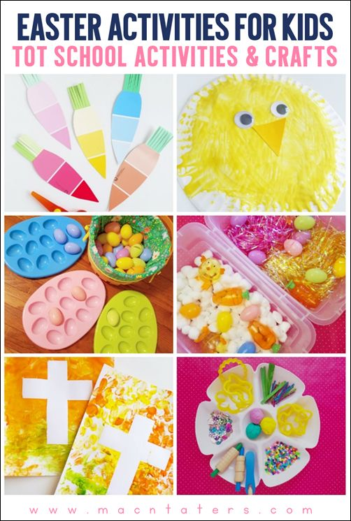 Easter Activities and Crafts for toddlers and preschoolers. Tot School activities for Easter.