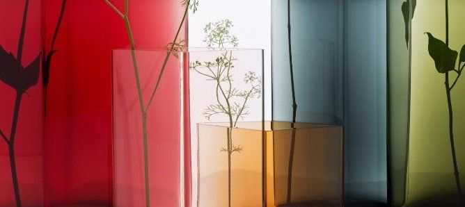 Created by Ronan and Erwan Bouroullec, Ruutu might be simple in shape but it takes the most skilled craftsmen in the glass factory to produce.   Ruutu means diamond or square in Finnish. When collected and combined, Ruutu vases make small, seamless installations where both the strength and the delicate nature of the glass come alive.