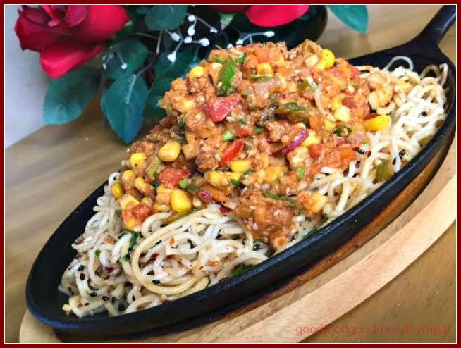Thai Noodles Chaat Sizzler Fusion recipe, Chaat, Sizzler Recipe