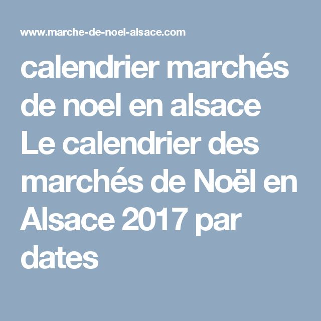 calendrier march de noel alsace 2017 my blog. Black Bedroom Furniture Sets. Home Design Ideas