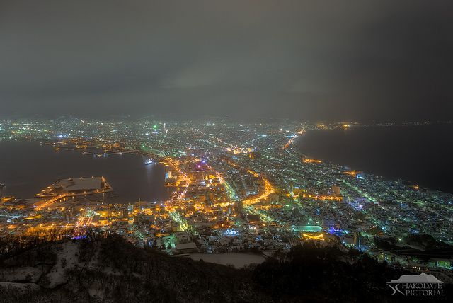 Night view of Hakodate.(Winter Version.)