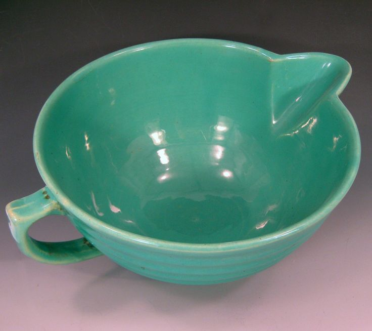 Vintage Bauer Pottery Batter Bowl Jade Green by vintagecowgirls