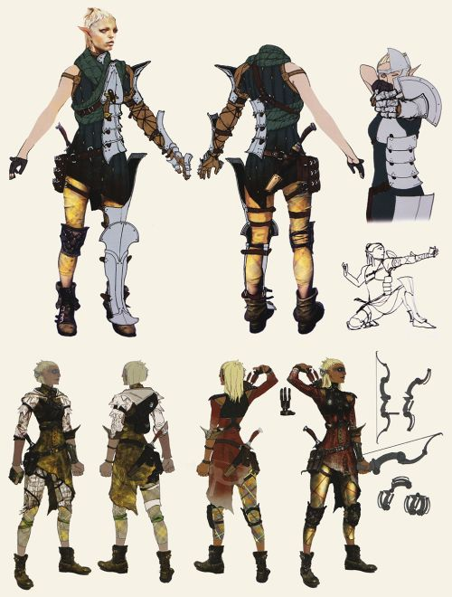 Dragon Age Inquisition Character Design Ideas : The art of dragon age inquisition female elf ranger