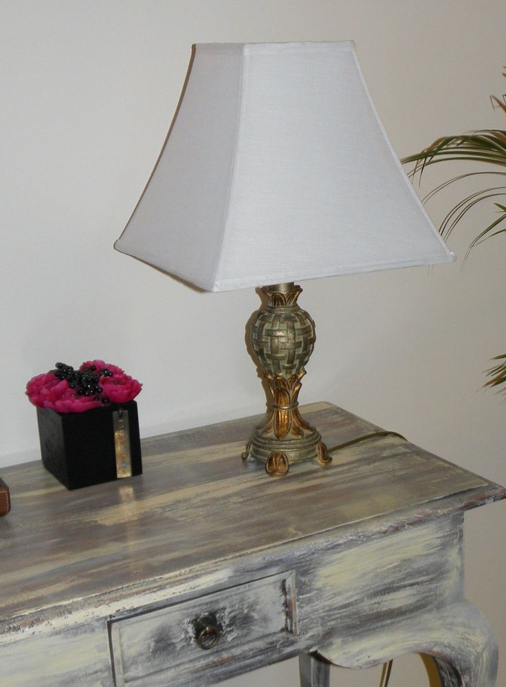 One Of A Pair Lamps For The Console Table Lampbases Ebay New Shades