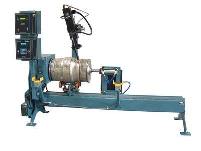 This #circumferential #seam #welding #lathe for shock absorber is used for welding vessel diameter less than f1000mm..http://goo.gl/tDe2ST