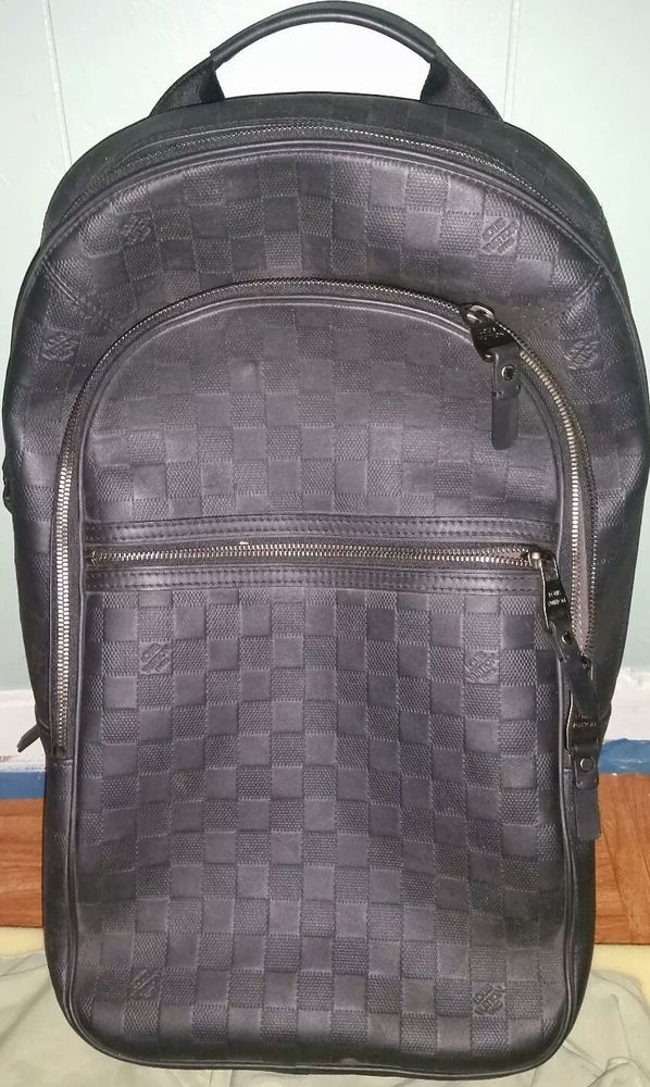 Louis Vuitton Mens Backpack black fashion clothing