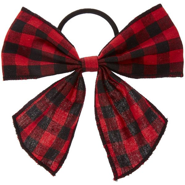 Red Black Checked Hair Bow (19 PEN) ❤ liked on Polyvore featuring accessories, hair accessories, bow hair accessories, red bow hair accessories, red hair bow and red hair accessories