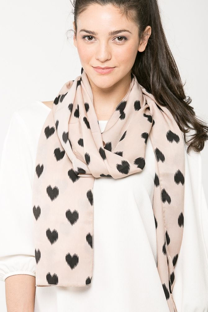 Heart Print Scarf @ Cicihot scarf Online Store,scarves,womens scarves,women's scarves,ladies scarves,scarves for women,cheap scarves,magic scarves,long scarves