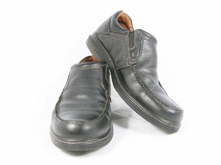 JOHNSTON & MURPHY Men's Shoes Sheepskin Black Leather Slip On Loafer Sz 9M #JohnstonMurphy #LoafersSlipOns