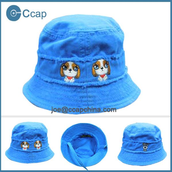 Blue bucket hat kids/Wholesale bucket hats with string $1~$4.8