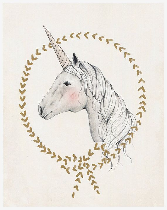 UNICORN - 8X10 art print - Kelli Murray