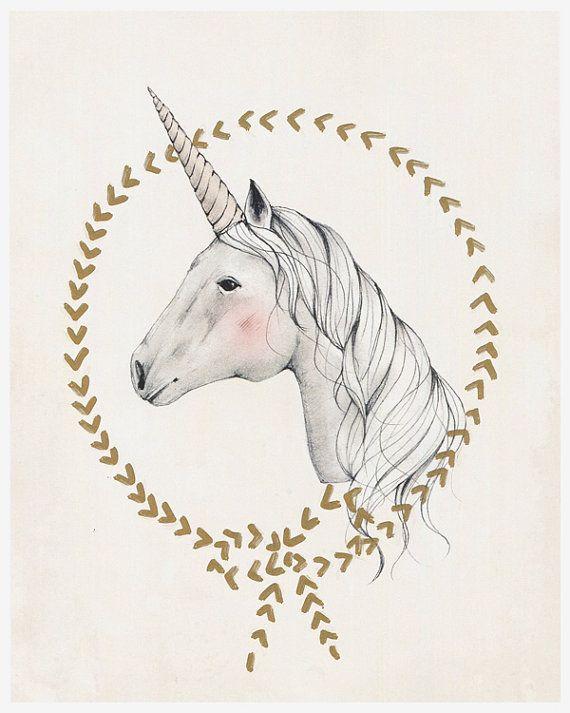 UNICORN  8X10 art print by KelliMurrayArt on Etsy, $28.00