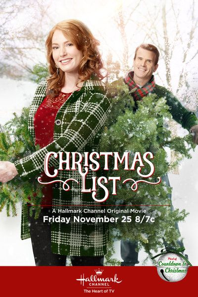 "Its a Wonderful Movie - Your Guide to Family Movies on TV: 'Christmas List' - a Hallmark Channel Original ""Countdown to Christmas"" Movie starring Alicia Witt & Gabriel Hogan!"