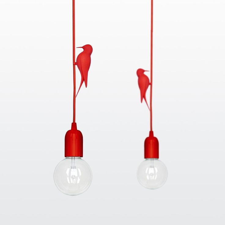 Studio Macura have designed LETi, a pendant light that includes a clip-on 3D printed bird.