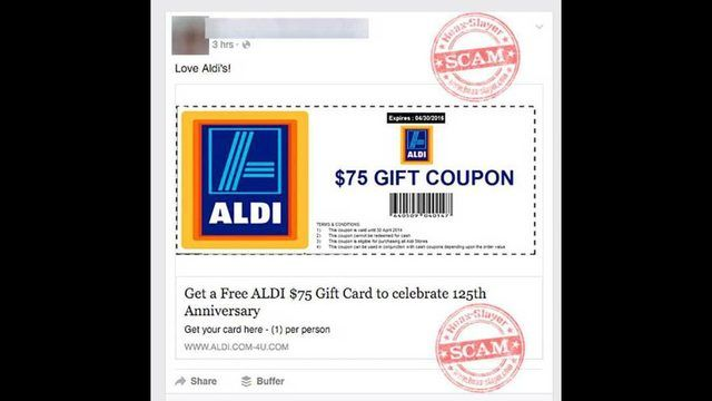 WHAT YOU NEED TO KNOW – FACEBOOK ALDI COUPON SCAM ALERT - Beware of this Aldi coupon scam circulating on Facebook