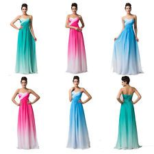 Chic Chiffon Long Formal Evening Dress Bridesmaid Prom Party Gown Dress SZ 6-20
