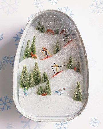 : Idea, Slopes Diorama, Christmas, Dioramas, Winter Craft, Kid, Canned Ham, Crafts
