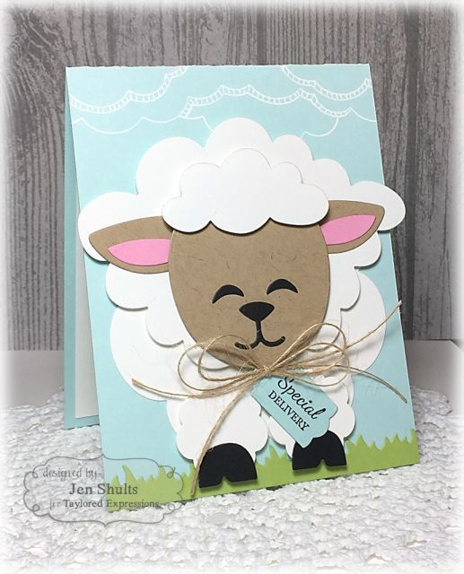 Special Delivery Card by Jen Shults #Cardmaking, #Baby, #SackittoYou, #TE, #ShareJoy