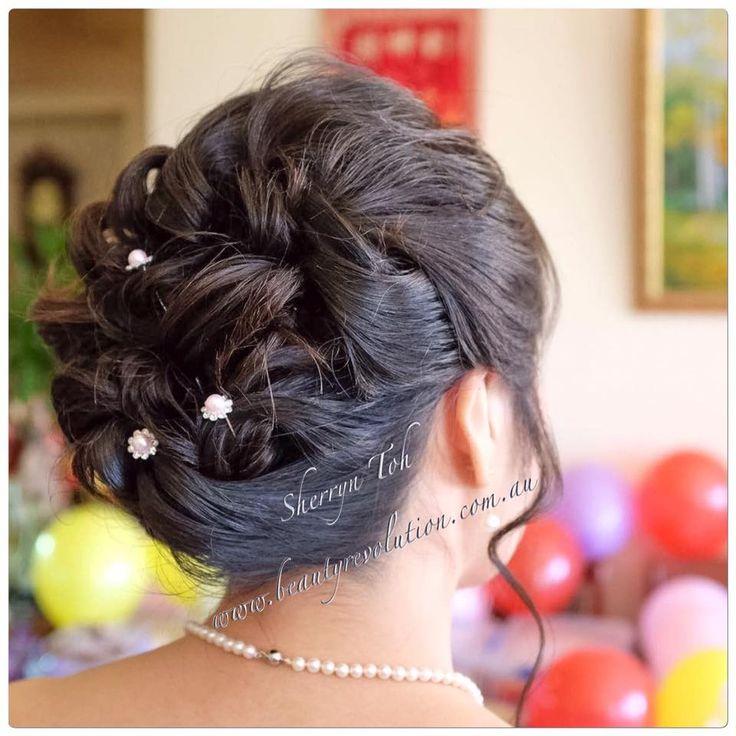 textured, curl pin up, asian wedding, asian hair