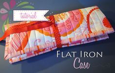 Free Sewing Tutorial and Pattern for this adorable Curling iron or Flat iron Holder, perfect for travel or on the go to protect your hot iron!
