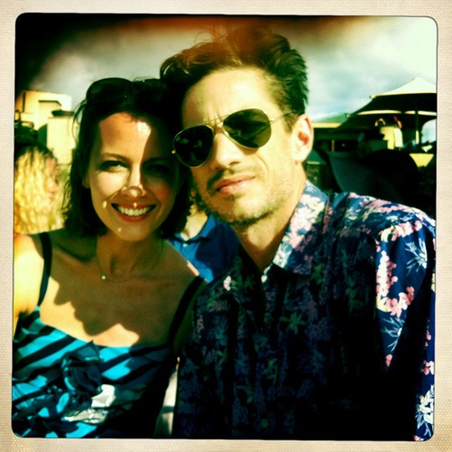 Amy with her husband, James Carpinello