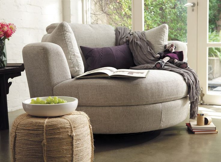 Plush Snuggle   Most comfortable chair ever   Ours is grey though Best 20  Round sofa ideas on Pinterest   Contemporary sofa  . Round Sofa Chair Living Room Furniture. Home Design Ideas