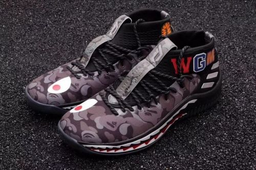 quality design 4fe10 c5470 Legit Cheap BAPE x adidas Dame 4 Black Camo AP9974 - Mysecretshoes