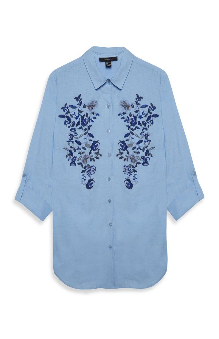 Shirt design words ideas - Primark Geborduurd Longline T Shirt