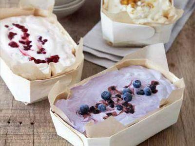 Cranberry parfait | Preiselbeerparfait  http://www.gf-luxury.com/eisrezept-preiselbeer-parfait.html